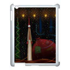 Christmas Xmas Bag Pattern Apple iPad 3/4 Case (White)