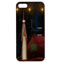 Christmas Xmas Bag Pattern Apple iPhone 5 Hardshell Case with Stand