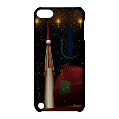 Christmas Xmas Bag Pattern Apple iPod Touch 5 Hardshell Case with Stand
