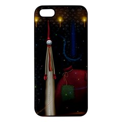 Christmas Xmas Bag Pattern Apple iPhone 5 Premium Hardshell Case