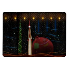 Christmas Xmas Bag Pattern Samsung Galaxy Tab 10.1  P7500 Flip Case