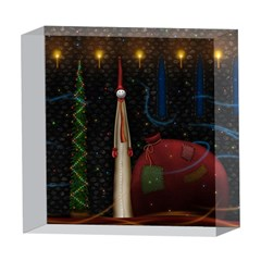Christmas Xmas Bag Pattern 5  x 5  Acrylic Photo Blocks