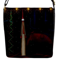 Christmas Xmas Bag Pattern Flap Messenger Bag (S)