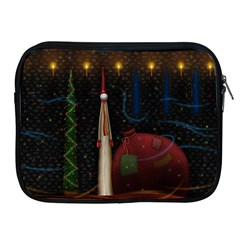 Christmas Xmas Bag Pattern Apple iPad 2/3/4 Zipper Cases