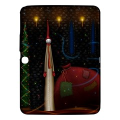 Christmas Xmas Bag Pattern Samsung Galaxy Tab 3 (10.1 ) P5200 Hardshell Case