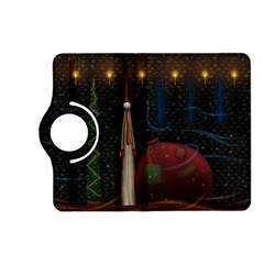 Christmas Xmas Bag Pattern Kindle Fire HD (2013) Flip 360 Case