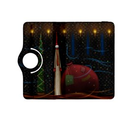 Christmas Xmas Bag Pattern Kindle Fire HDX 8.9  Flip 360 Case