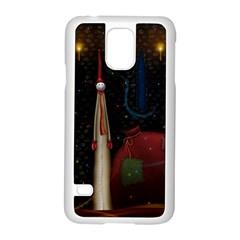 Christmas Xmas Bag Pattern Samsung Galaxy S5 Case (White)