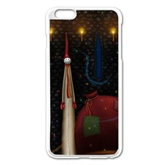 Christmas Xmas Bag Pattern Apple iPhone 6 Plus/6S Plus Enamel White Case