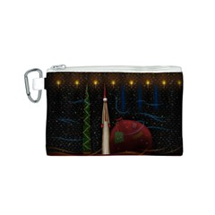 Christmas Xmas Bag Pattern Canvas Cosmetic Bag (S)