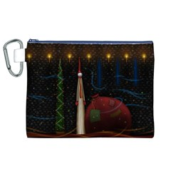 Christmas Xmas Bag Pattern Canvas Cosmetic Bag (XL)