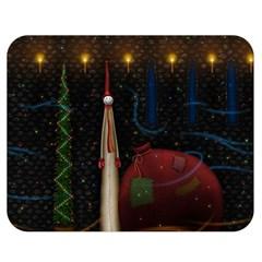Christmas Xmas Bag Pattern Double Sided Flano Blanket (Medium)