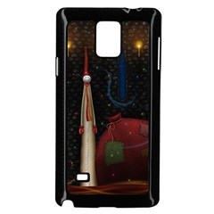 Christmas Xmas Bag Pattern Samsung Galaxy Note 4 Case (Black)
