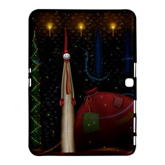 Christmas Xmas Bag Pattern Samsung Galaxy Tab 4 (10.1 ) Hardshell Case