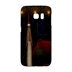 Christmas Xmas Bag Pattern Galaxy S6 Edge