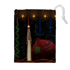 Christmas Xmas Bag Pattern Drawstring Pouches (Extra Large)