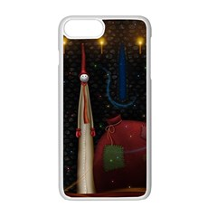 Christmas Xmas Bag Pattern Apple iPhone 7 Plus White Seamless Case