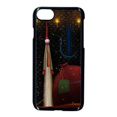 Christmas Xmas Bag Pattern Apple iPhone 7 Seamless Case (Black)