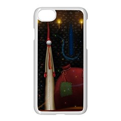 Christmas Xmas Bag Pattern Apple iPhone 7 Seamless Case (White)