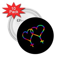 Love is love 2.25  Buttons (10 pack)