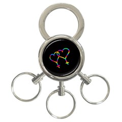 Love is love 3-Ring Key Chains