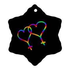 Love is love Ornament (Snowflake)
