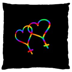 Love is love Large Cushion Case (One Side)