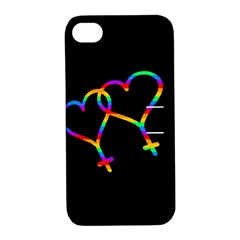 Love is love Apple iPhone 4/4S Hardshell Case with Stand