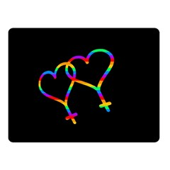 Love is love Double Sided Fleece Blanket (Small)