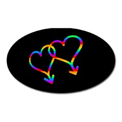 Love is love Oval Magnet