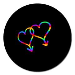 Love is love Magnet 5  (Round)