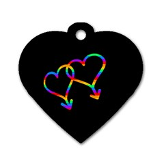 Love is love Dog Tag Heart (One Side)