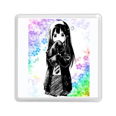 Shy Anime Girl Memory Card Reader (Square)