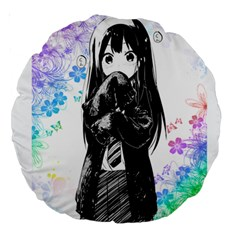 Shy Anime Girl Large 18  Premium Round Cushions