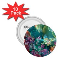 Butterflies, Bubbles, And Flowers 1 75  Buttons (10 Pack)
