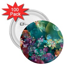 Butterflies, Bubbles, And Flowers 2.25  Buttons (100 pack)