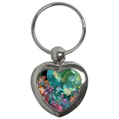 Butterflies, Bubbles, And Flowers Key Chains (Heart)
