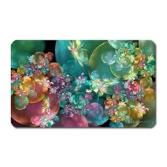 Butterflies, Bubbles, And Flowers Magnet (Rectangular)