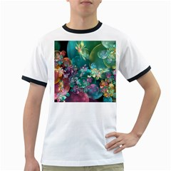 Butterflies, Bubbles, And Flowers Ringer T-Shirts