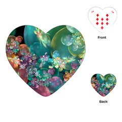 Butterflies, Bubbles, And Flowers Playing Cards (Heart)