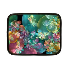 Butterflies, Bubbles, And Flowers Netbook Case (Small)