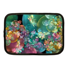 Butterflies, Bubbles, And Flowers Netbook Case (Medium)