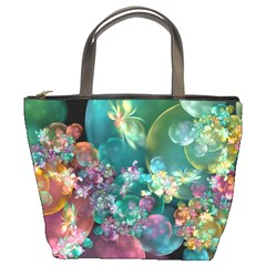 Butterflies, Bubbles, And Flowers Bucket Bags