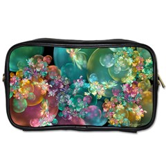 Butterflies, Bubbles, And Flowers Toiletries Bags