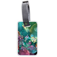 Butterflies, Bubbles, And Flowers Luggage Tags (One Side)