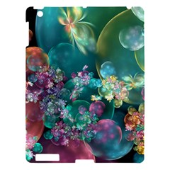 Butterflies, Bubbles, And Flowers Apple iPad 3/4 Hardshell Case