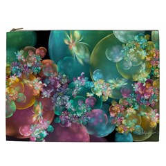 Butterflies, Bubbles, And Flowers Cosmetic Bag (XXL)
