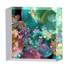 Butterflies, Bubbles, And Flowers 5  x 5  Acrylic Photo Blocks