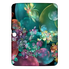 Butterflies, Bubbles, And Flowers Samsung Galaxy Tab 3 (10.1 ) P5200 Hardshell Case