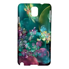 Butterflies, Bubbles, And Flowers Samsung Galaxy Note 3 N9005 Hardshell Case